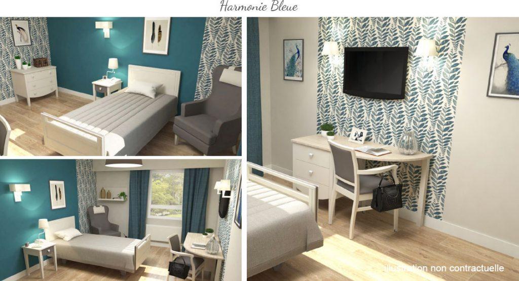 chambre Harmonie Bleue